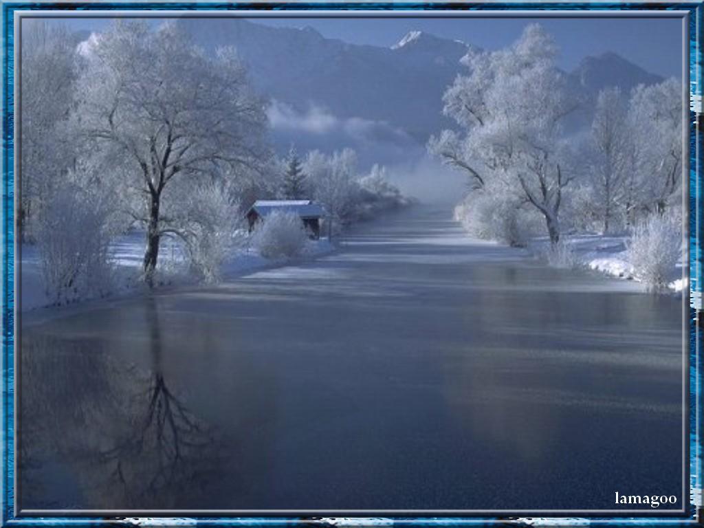 Scenery wallpaper fond d 39 cran paysage enneig gratuit - Paysage enneige dessin ...